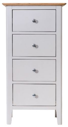 Belmont Painted 4 Drawer Narrow Chest